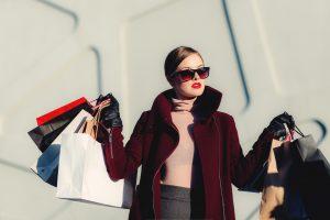 Fabulous woman with shopping bags.