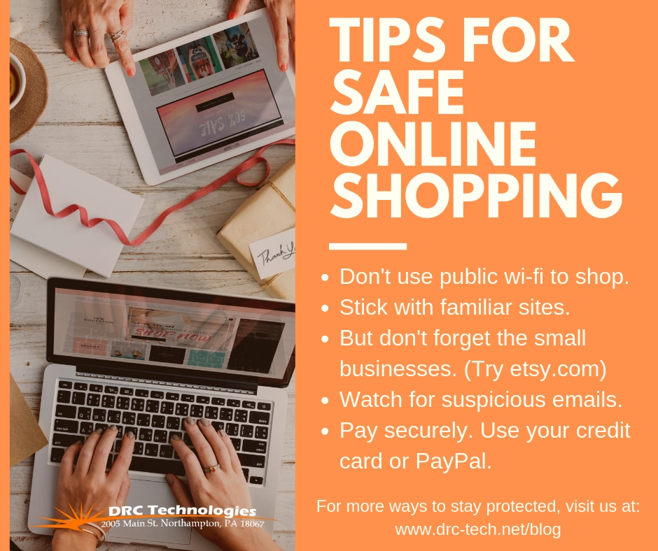 e8b72a61dcb0d Safe Online Shopping - 9 Tips to Stay Protected - DRC Technologies ...
