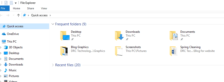 Folders in Windows 10