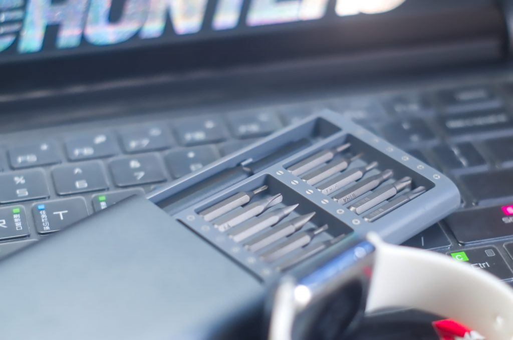 tools on a computer keyboard