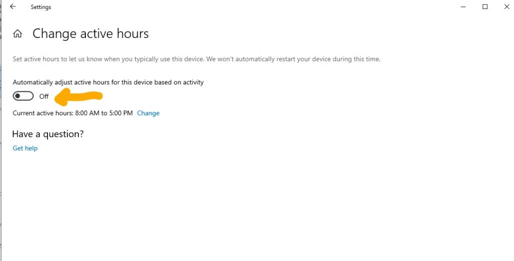 Automatically adjusting active hours Windows updates DRC Technologies