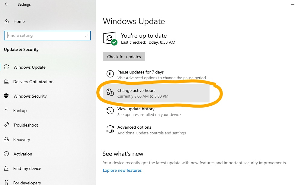 Changing active hours for Windows updates DRC Technologies